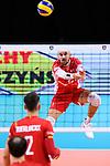 13.09.2019, Paleis 12, BrŸssel / Bruessel<br />Volleyball, Europameisterschaft, Belgien (BEL) vs. …sterreich / Oesterreich (AUT)<br /><br />Annahme Philipp Kroiss (#1 AUT) / Libero<br /><br />  Foto © nordphoto / Kurth