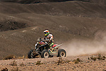 Quad rider JWalter Nosiglia from Bolivia riding his Honda quad during the 5th stage of the Dakar Rally 2016 in the Bolivian Altiplano.