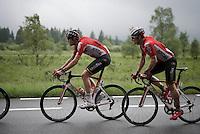 Sander Armée (BEL/Lotto-Soudal) & André Greipel (DEU/Lotto-Soudal)<br /> <br /> stage 4: Hotel Verviers - La Gileppe (Jalhay/BEL) 186km <br /> 30th Ster ZLM Toer 2016