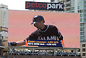 Ichiro Suzuki (Marlins), JUNE 15, 2016 - MLB : Ichiro Suzuki of Miami Marlins on the second base in the ninth inning during the Major League Baseball game between the San Diego Padres and the Miami Marlins  at PetCo Park in San Diego, California, United States. He raises his career total in the Japanese and North American major leagues to 4,257, passing Pete Rose's record Major League Baseball total. (Photo by AFLO)