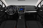 Stock photo of straight dashboard view of a 2018 Subaru Legacy Premium 4 Door Sedan