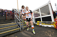 Picture by Anna Gowthorpe/SWpix.com - 15/04/2018 - Rugby League - Womens Super League - Bradford Bulls v Leeds Rhinos - Coral Windows Stadium, Bradford, England - The Bradford Bulls arrive for the game