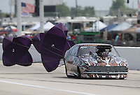 Apr. 26, 2013; Baytown, TX, USA: NHRA pro mod driver Mike Knowles during qualifying for the Spring Nationals at Royal Purple Raceway. Mandatory Credit: Mark J. Rebilas-