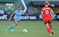 Portland, Oregon - Saturday July 2, 2016: Sky Blue FC forward Tasha Kai (32) during a regular season National Women's Soccer League (NWSL) match at Providence Park.