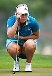 CHON BURI, THAILAND - FEBRUARY 17:  Anna Nordqvist of Sweden lines up a putt on the 10th hole during day two of the LPGA Thailand at Siam Country Club on February 17, 2012 in Chon Buri, Thailand.  Photo by Victor Fraile / The Power of Sport Images