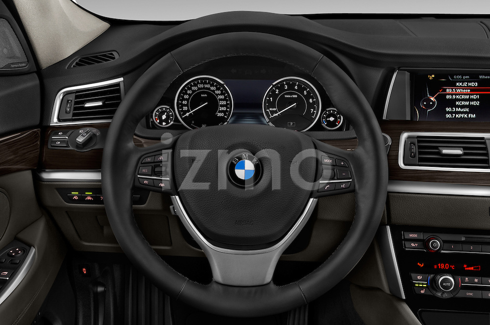 Car pictures of steering wheel view of a 2015 BMW 5 Series 535i Gran Turismo Luxury Line 5 Door Hatchback Steering Wheel