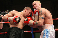Carl Johanneson beats Ricky Burns for the british super feather title at the leeds town hall. Friday 9 February 2007