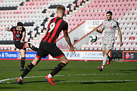 Jake Cope of AFC Bournemouth left has a shot on goal during AFC Bournemouth Under-21 vs Liverpool Under-21, Premier League Cup Football at the Vitality Stadium on 24th February 2019