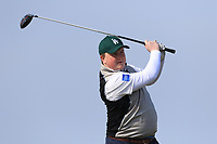 James McVicer (Knock) on the 1st tee during Round 3 of The West of Ireland Open Championship in Co. Sligo Golf Club, Rosses Point, Sligo on Saturday 6th April 2019.<br /> Picture:  Thos Caffrey / www.golffile.ie