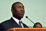 April 11, 2012  (Washington, DC)  Benjamin Crump, Trayvon Martin family attorney, during a news conference Al Sharpton at the Washington Convention Center April 11, 2012. (Photo by Don Baxter/Media Images International)