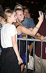 Tavi Gevinson with fans leaving the stage door after the opening night performance of 'This Is Our Youth' at the Cort Theatre on September 11, 2014 in New York City.