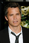 "HOLLYWOOD, CA. - August 05: Timothy Olyphant arrives at the premiere of ""A Perfect Getaway"" at the Cinerama Dome on August 5, 2009 in Hollywood, California."