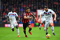 Jordon Ibe of AFC Bournemouth middle vies for the ball with Erik Pieters of Stoke City right during AFC Bournemouth vs Stoke City, Premier League Football at the Vitality Stadium on 3rd February 2018