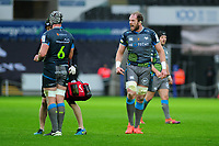 Alun Wyn Jones of Ospreys during the Heineken Champions Cup Round 5 match between the Ospreys and Saracens at the Liberty Stadium in Swansea, Wales, UK. Saturday January 11 2020.