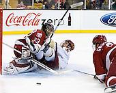 Kyle Richter (Harvard - 33), Chris Kreider (BC - 19) - The Boston College Eagles defeated the Harvard University Crimson 6-0 on Monday, February 1, 2010, in the first round of the 2010 Beanpot at the TD Garden in Boston, Massachusetts.