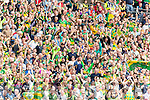 Kerry fans cheer Paul Geaneys goal against  Dublin in the All Ireland Senior Football Semi Final at Croke Park on Sunday.