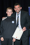 St Johnstone FC Youth Academy Presentation Night at Perth Concert Hall..21.04.14<br /> Callum Davidson presents to Ross Corbett<br /> Picture by Graeme Hart.<br /> Copyright Perthshire Picture Agency<br /> Tel: 01738 623350  Mobile: 07990 594431
