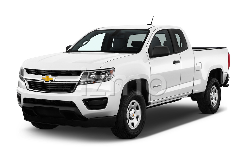 2016 Chevrolet Colorado 2WD wt Extended Cab 3 Door Pick-up Angular Front stock photos of front three quarter view