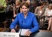 Barbara M. Barrett waits to give testimony on her nomination to be Secretary of the Air Force before the United States Senate Committee on Armed Services on Capitol Hill in Washington, DC on Thursday, September 12, 2019.<br /> Credit: Ron Sachs / CNP