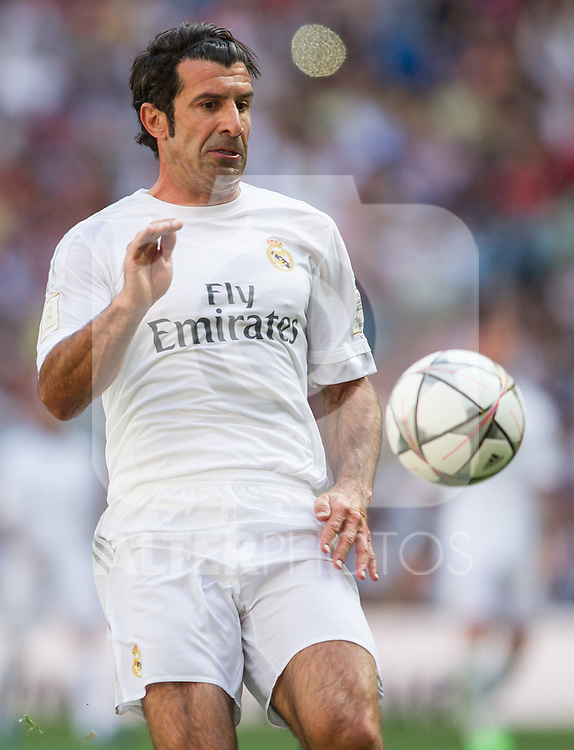 Luis Figo during the Corazon Classic Match 2016 at Estadio Santiago Bernabeu between Real Madrid Legends and Ajax Legends. Jun 5,2016. (ALTERPHOTOS/Rodrigo Jimenez)