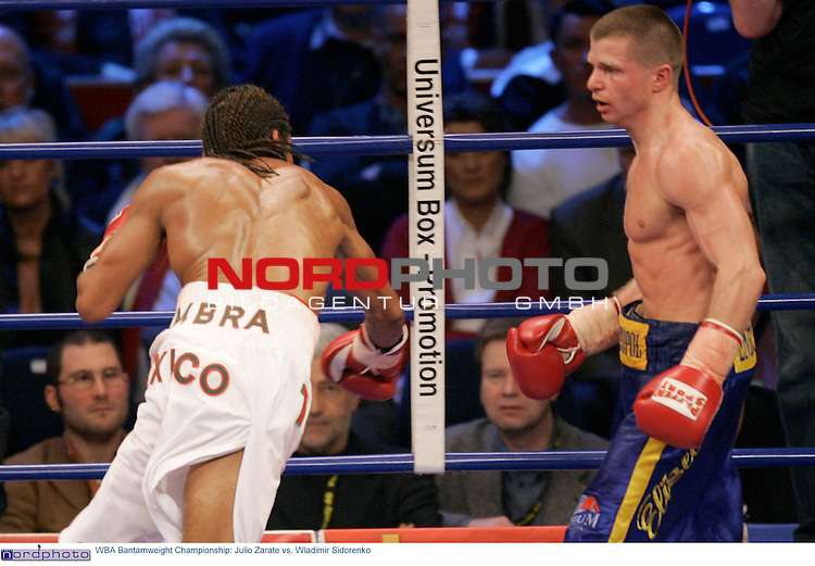 WBA Bantamweight Championship: <br /> <br /> Julio Zarate vs. Wladimir Sidorenko <br /> <br /> Wladimir Sidorenko neuer WBA Champion<br /> <br />  Foto &copy; nordphoto <br /> <br /> <br /> <br /> <br /> <br /> <br /> <br />  *** Local Caption *** Foto ist honorarpflichtig! zzgl. gesetzl. MwSt.<br /> <br />  Belegexemplar erforderlich<br /> <br /> Adresse: nordphoto<br /> <br /> Georg-Reinke-Strasse 1<br /> <br /> 49377 Vechta
