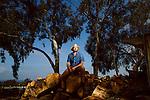 "ENCINITAS, CALIFORNIA - FEBRUARY 27: Daron ""Farmer D"" Joffe, Director Of Agricultural Innovation And Development at Leichtag Foundation & Farmer D Consulting, at the Leichtag Foundation Farm in Encinitas, California, on Friday, February 27, 2015."