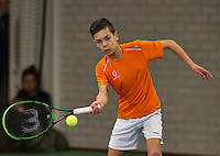 Rotterdam, The Netherlands, March 19, 2016,  TV Victoria, NOJK 14/18 years, Jay Zwinkels (NED)<br /> Photo: Tennisimages/Henk Koster