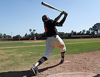 (Photo by John Valenzuela, Freelance)<br /> <br /> #35 Devon DeRaad. The Occidental College baseball team defeats Caltech to claim the SCIAC Championships on Sunday, May 1, 2016 at Oxy's Anderson Field.<br /> <br /> (Photo by John Valenzuela, Freelance)