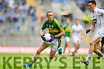 Colm Cooper, Kerry in action against Mick O'Grady, Kildare in the All Ireland Quarter Final at Croke Park on Sunday.