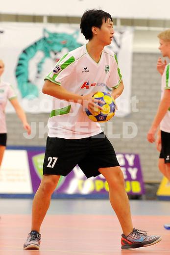 GRONINGEN - Korfbal, Alfa College, NIC - Deetos ,korfbal league,  seizoen 2011-2012, 11-12-2011,  NIC speler Ricky Wu