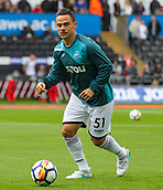 10th September 2017, Liberty Stadium, Swansea, Wales; EPL Premier League football, Swansea versus Newcastle United; Roque Mesa of Swansea City warms up before the match