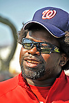 15 March 2008: Washington Nationals' first baseman Dmitri Young watches batting practice prior to a Spring Training game against the Los Angeles Dodgers at Space Coast Stadium, in Viera, Florida...Mandatory Photo Credit: Ed Wolfstein Photo