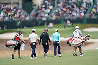 Thorbjorn Olesen (DEN) Ryan Fox (NZL) Emiliano Grillo (ARG) walking off the 18th tee during the 1st round of the US Open Championship, Pebel Beach Golf Links, Monterrey, Calafornia, USA. 13/06/2019.<br /> Picture Fran Caffrey / Golffile.ie<br /> <br /> All photo usage must carry mandatory copyright credit (© Golffile | Fran Caffrey)