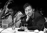 FILE PHOTO  - Bruce Springsteen attend Amnesty International's news conference, Sept 16, 1988