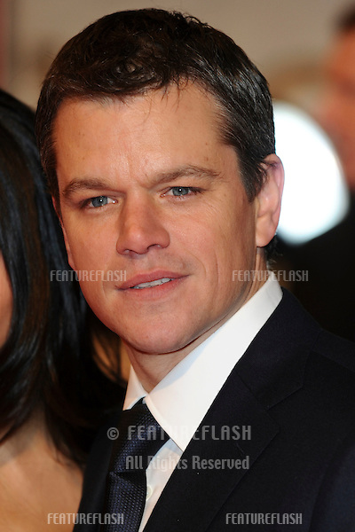 Matt Damon arriving for the 'Invictus' premiere at the Odeon West End, Leicester Square, London.  31/01/2010  Steve Vas / Featureflash