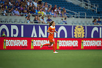 Orlando, FL - Thursday June 23, 2016: Andressa Machry during a regular season National Women's Soccer League (NWSL) match between the Orlando Pride and the Houston Dash at Camping World Stadium.