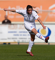 Sara Bjork Gunnarsdottir.  The USWNT defeated Iceland, 1-0, at Ferreiras, Portugal.