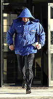 "Pictured: Daniel Clive Gravell, leaving Swansea Crown Court. Tuesday 23 February 2016 <br /> Re: Daniel Clive Gravell, a Swansea comprehensive PE teacher accused of rape of an adult woman is on trial at Swansea Crown Court.<br /> Cefn Hengoed School had previously said that: ""None of the charges against him relate to any pupils at Cefn Hengoed Comprehensive School.""<br /> 34-year-old Gravell, of Penllergaer near Swansea is alleged to have raped a woman on October 13th, 2014."