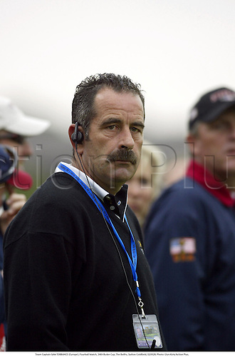 Team Captain SAM TORRANCE (Europe), Fourball Match, 34th Ryder Cup, The Belfry, Sutton Coldfield, 020928. Photo: Glyn Kirk/Action Plus....2002.portrait portraits.golf golfer player