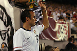 10 AUG 2010: Landon Donovan (USA) prepares to take a corner kick. The United States Men's National Team lost to the Brazil Men's National Team 0-2 at New Meadowlands Stadium in East Rutherford, New Jersey in an international friendly soccer match.