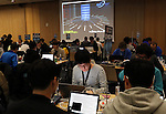 January 28, 2017, Tokyo, Japan - Some 90 contestants in 24 teams from nine nations from China, Japan, Poland, Russia, South Korea, Taiwan, United States, France and Switzerland compete in their hacking skills at the final rounds of the Security Contest, SECCON at the Tokyo Denki University in Tokyo on Saturday, January 28, 2017. A two-day cyber security competition started in Tokyo to find talented young cyber security engineers.   (Photo by Yoshio Tsunoda/AFLO) LWX -ytd-