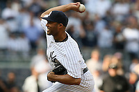 09/19/11 Bronx, NY: New York Yankees relief pitcher Mariano Rivera #42 during an MLB game played at Yankee Stadium between the Minnesota Twins and the New York Yankees. The Yankees defeated the Twins 6-4.