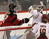Kasidy Anderson (NU - 37), Katie Burt (BC - 33) - The Boston College Eagles defeated the Northeastern University Huskies 2-1 to win the Beanpot on Monday, February 7, 2017, at Matthews Arena in Boston, Massachusetts.