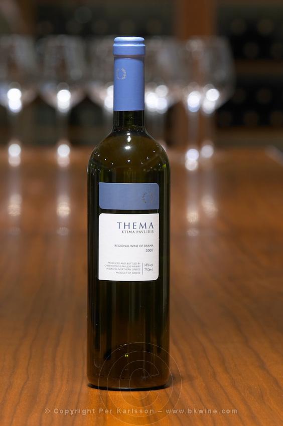 Thema white. Ktima Pavlidis Winery, Drama, Macedonia, Greece