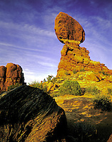 Balanced Rock, Arches National Park, Utah. Moab, Utah.