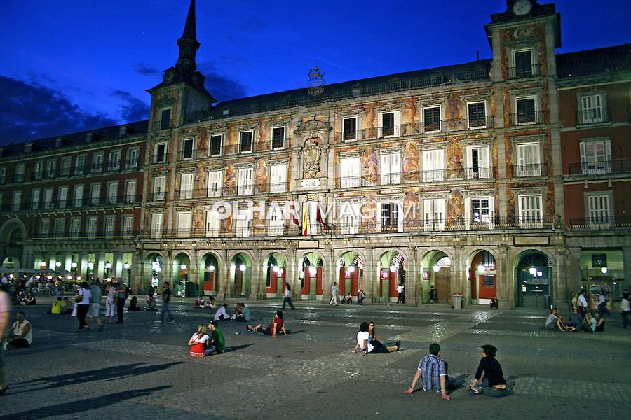 Casa de la Panaderia na Plaza Mayor. Madri. Espanha. 2007. Foto de Marcio Nel Cimatti.