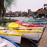 Boats on Thorpeness Meare, Suffolk