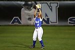 CHAPEL HILL, NC - FEBRUARY 24: Hampton's Daniella Milloy catches a popup. The Hampton University Pirates played the Towson University Tigers on February, 24, 2017, at Anderson Softball Stadium in Chapel Hill, NC in a Division I College Softball match. Towson won 17-2 in a five inning run-rule game.