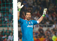 Gianluigi Buffon of Juventus  during the  Coppa Italia ( Tim Cup) final soccer match,  Ac Milan  - Juventus Fc       at  the Stadio Olimpico in Rome  Italy , 09 May 2018