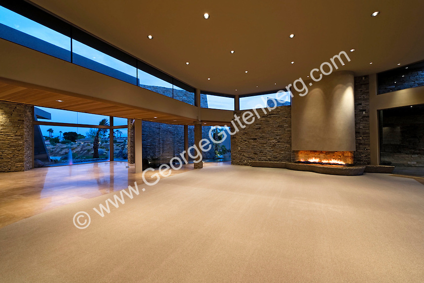 Guy Dreier Design contemporary living room with fireplace and no furniture